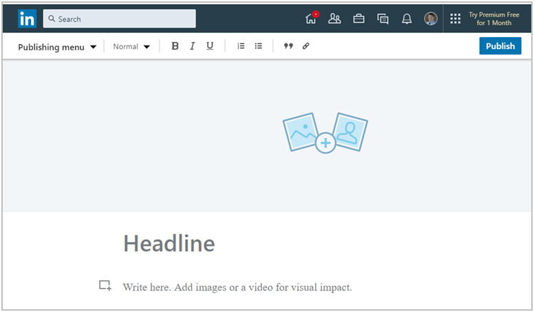 LinkedIn publishing tool image