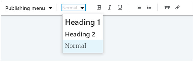 formatting Linkedin headings options