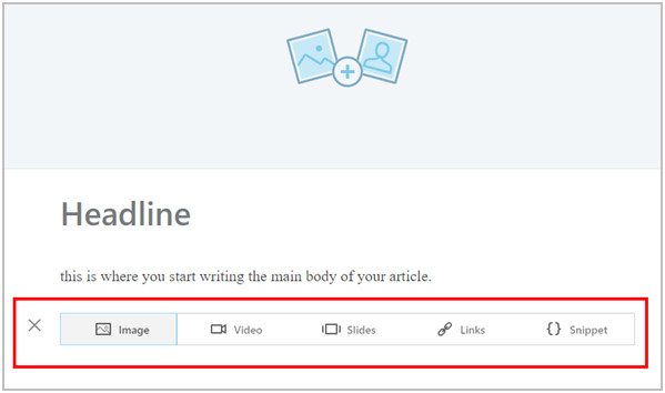 Image showing how to insert image into LinkedIn Pulse