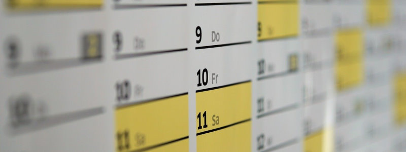 Photo of calendar of best days to send social media posts