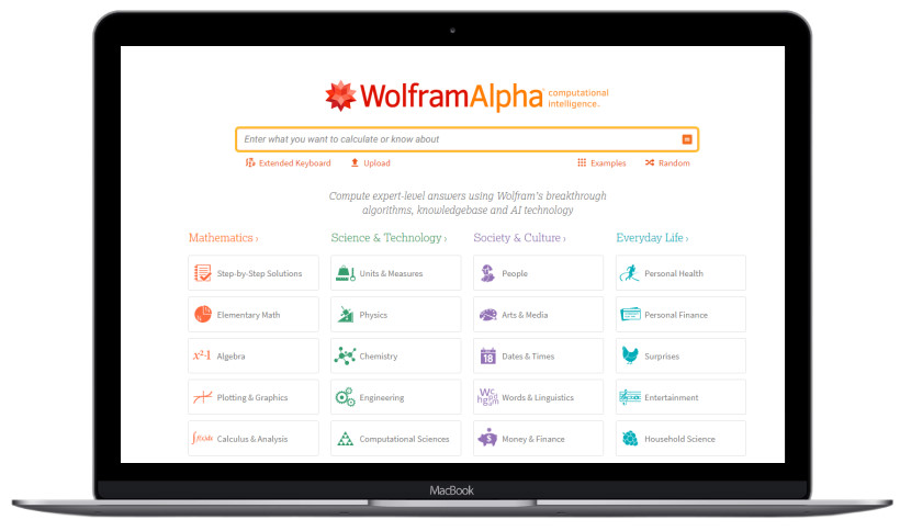 Image of wolfram alpha search engine